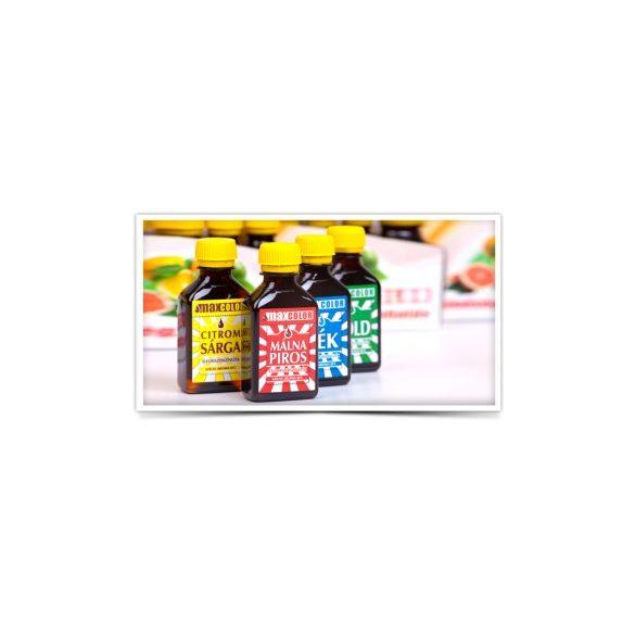 Ételfesték 30ml málnapiros/citromsárga/zöld/kék