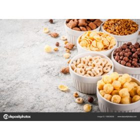 Reggeliző pelyhek, édesség, rágcsa